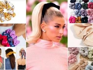 Скрънчи - любим аксесоар за коса от училище отново на мода през 2020
