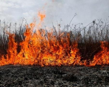 Възрастен мъж почина при пожар, тръгнал от сухи треви
