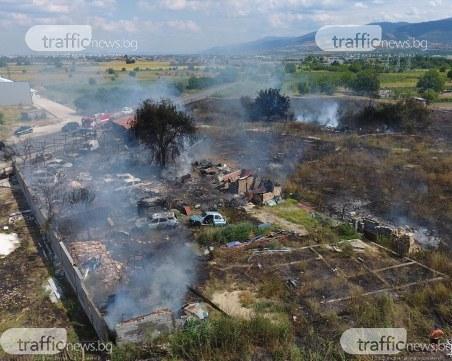 15 автомобила са изгорели при пожара в автоморгата