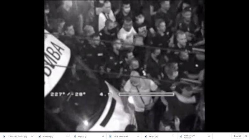 СДВР пусна кадри от снощните провокации по време на протестите