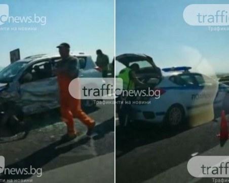ПТП-то на магистралата край Пловдив: Опит за самоубийство
