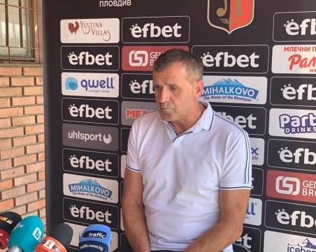 Акрапович посочи достойнствата на Ботев преди дербито