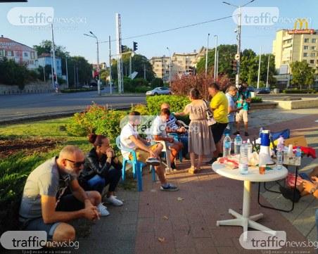 Полицията премахана палатковите лагери в Пловдив и София