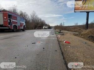 Жестока катастрофа край Кричим, мъж загина на място