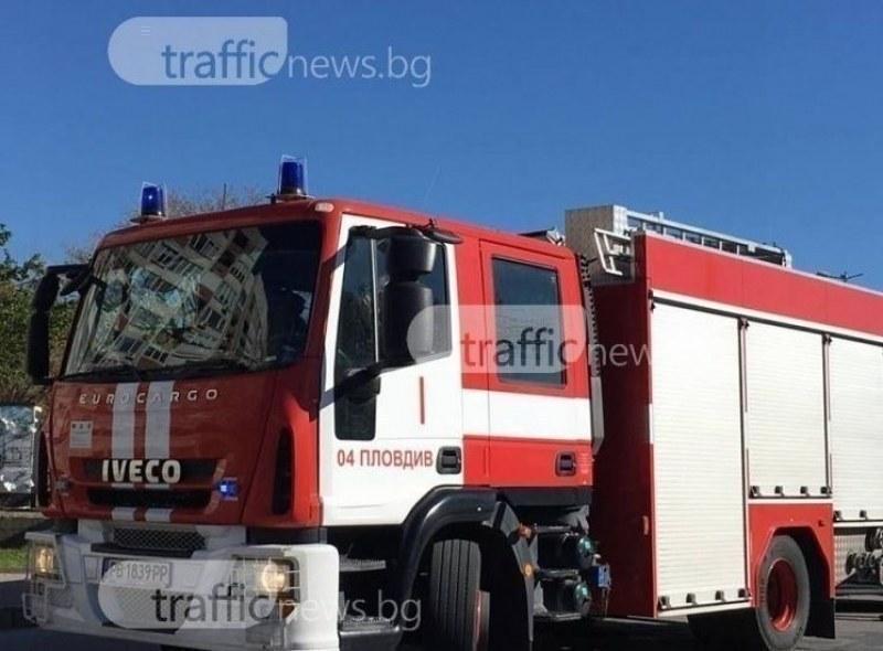 Пожарникарите и дъждът потушиха големия пожар край пловдивско село