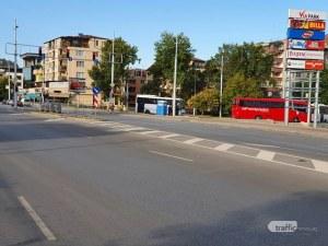 Блокада на Коматевско шосе заради мача, спират автобусите