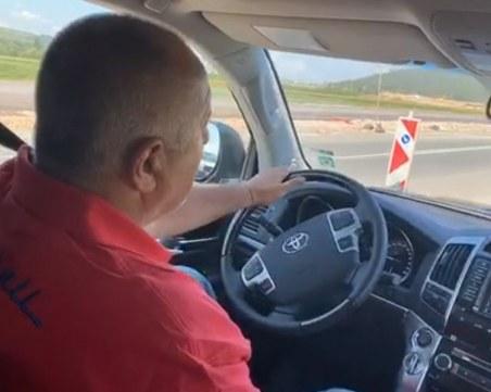 """Бойко Борисов инспектира АМ """"Европа"""", впечатлен от напредъка"""