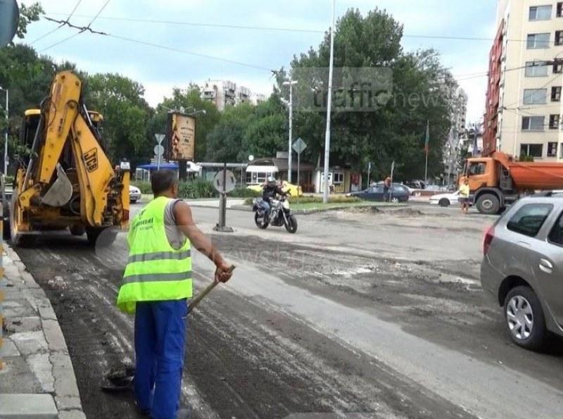 Започват нощно преасфалтиране на булевард в центъра на Пловдив