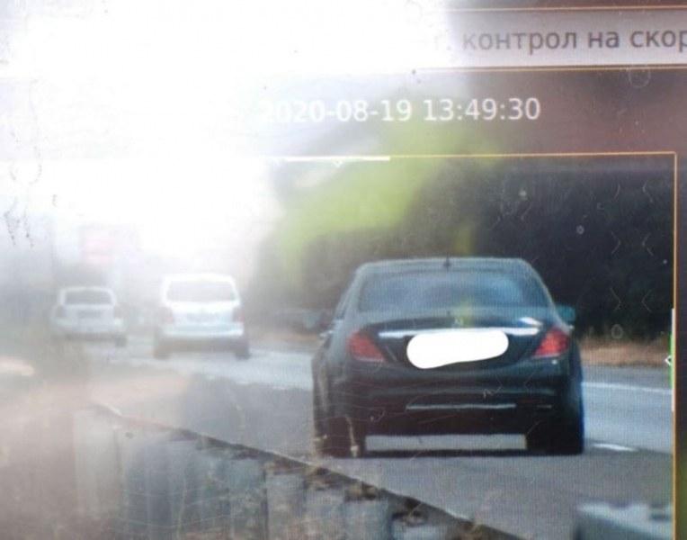 Мерцедес шпори с 233 км/ч край Пловдив на път за морето