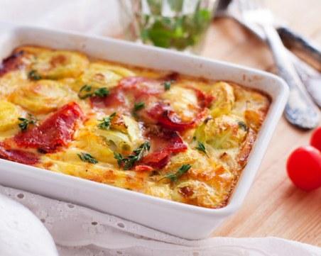 Най-вкусният и сочен пай с картофи без кори