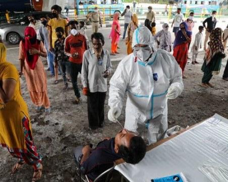 В Индия отново близо до рекорд с нови случаи! Новозаразените в САЩ над 18 000