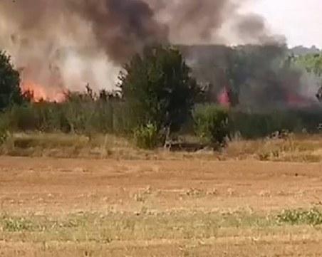 Пожар затвори магистрала Марица