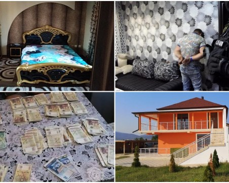 Лукс, злато и пачки в домовете на ударените ромски фамилии Ропотамци и Гольовци