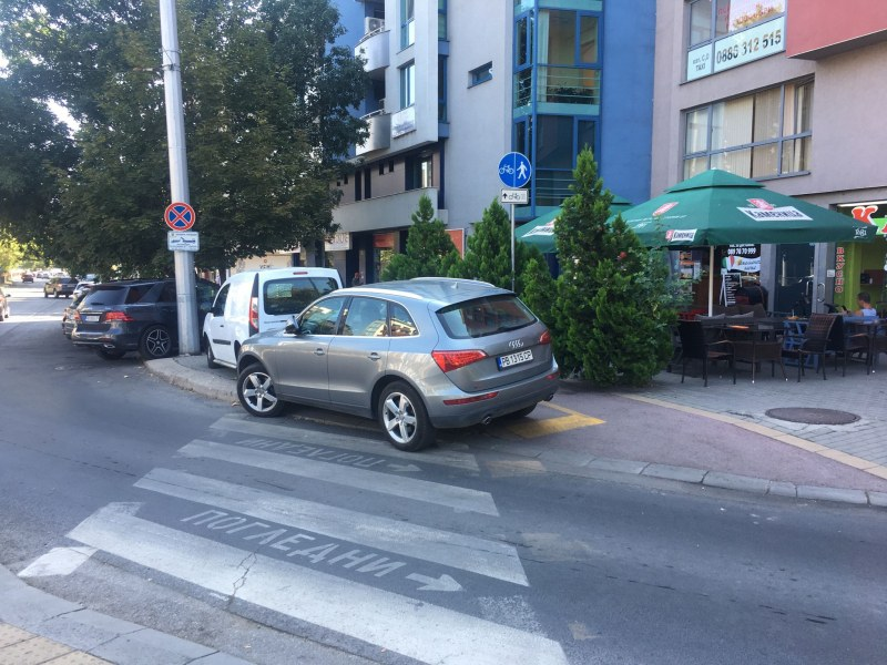 Поредното паркиране в свободен стил в Пловдив