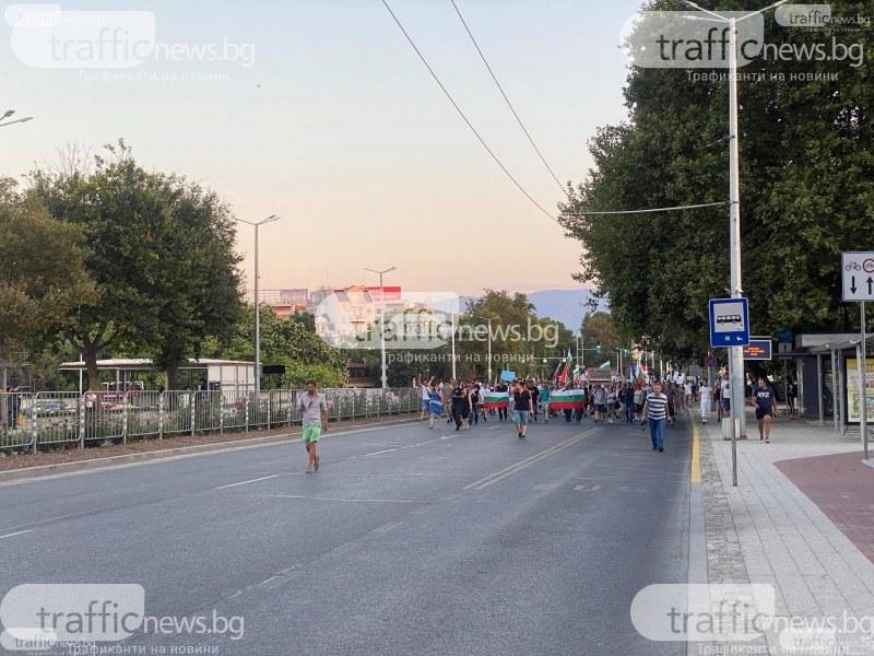 Протест и мач блокират движението в Пловдив, променят автобусните маршрути