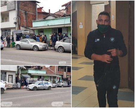 Друсаният дилър Гонго, който блъсна патрулка в Столипиново, застана пред съда
