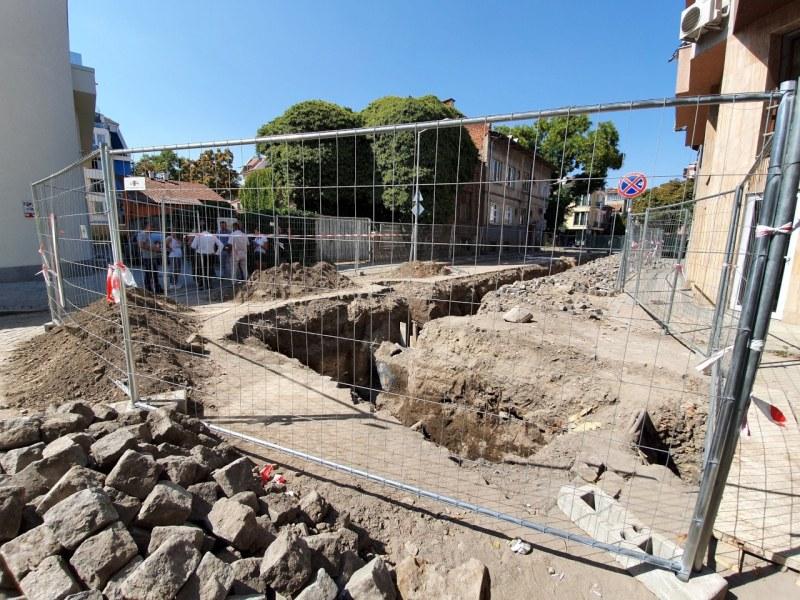 Инспектират археологията на Преслав, тръбите на ВиК - максимално далеч от зида
