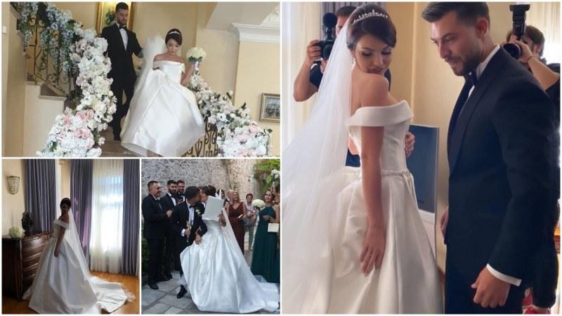 Първи снимки от сватбата на Натали Каймаканова: Вижте каква красива булка е