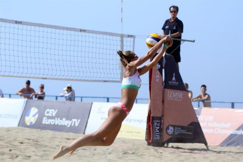 Петрова & Киндова отпаднаха на Европейското по плажен волейбол до 18 години