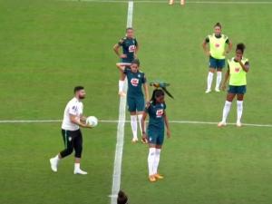 Папагал кацна на главата на футболистка в Бразилия