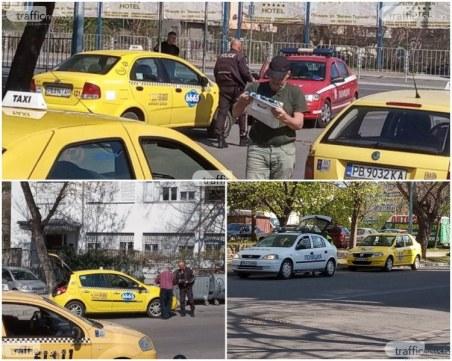 Акция в Пловдив! Провериха 237 водачи на таксита и 412 шофьори – глобиха 323 от тях