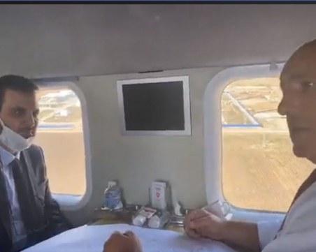 Борисов инспектира от хеликоптер трасето на Балкански поток
