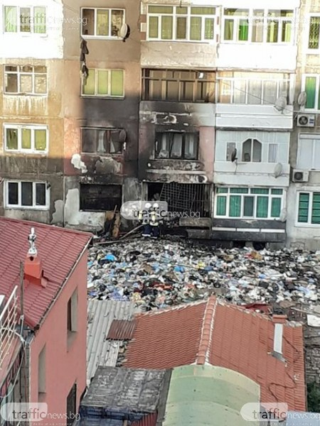 Пожар в Столипиново! Апартамент избухна в пламъци
