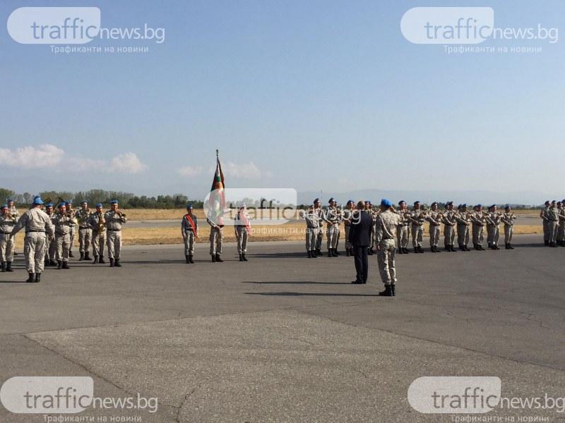 Румен Радев и Херо Мустафа пристигнаха в авиобаза Граф Игнатиево