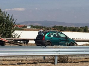 Катастрофа на АМ Тракия, ТИР и кола се удариха жестоко