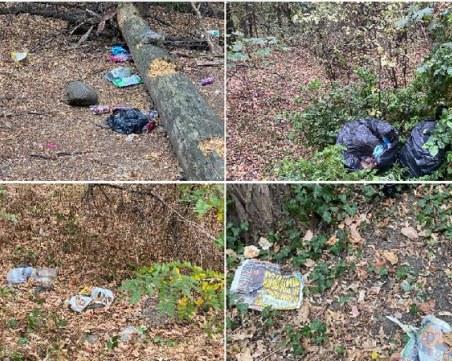 Пълни чували и разпилени боклуци покриха алеите на Лаута