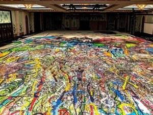"""Художник се бори за рекорд на """"Гинес"""" с най-голямата картина в света"""