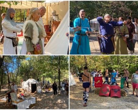 Средновековието завладя парк Лаута –фортове, рицари и дуели плениха пловдивчани
