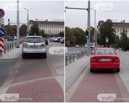 Класика! Поредна серия нагло паркиране по пловдивски