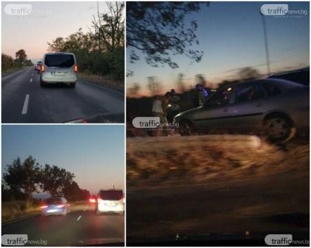 11-годишно момиче пострада при верижна катастрофа край Пловдив