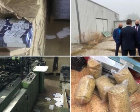 Главният прокурор се похвали за разбиването на незаконната фабрика за цигари в Пловдивско