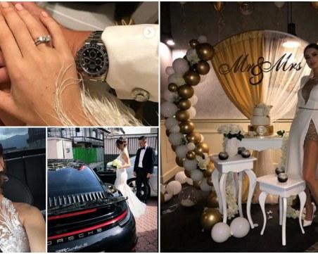 Снахата на Доган избра тоалет на пловдивска дизайнерка за сватбата си