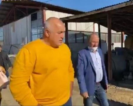 Бойко Борисов на проверка в голяма кравеферма