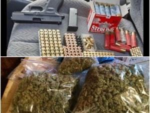 Двоен удар на полицията: Арестуваха друсан водач, в колата му откриха марихуана и боен арсенал