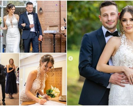 Първи официални снимки от сватбата на Демир Доган и Памела