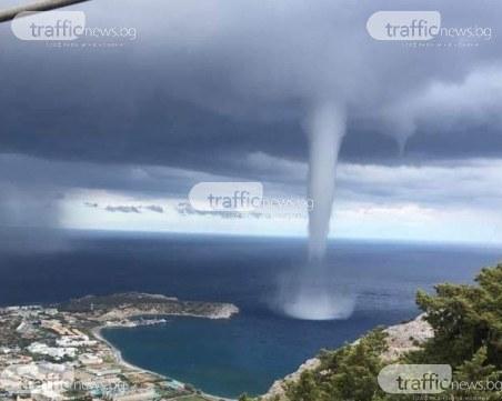 Торнадо удари гръцки остров, три българки на косъм от смъртта