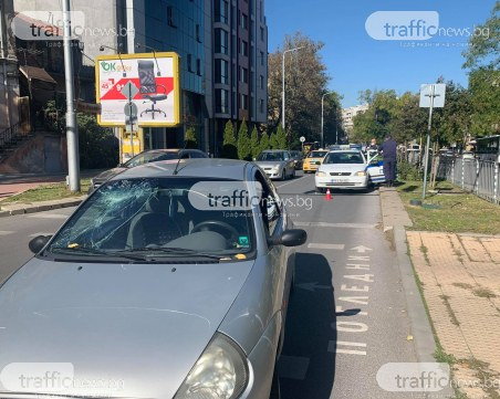 Кола блъсна пешеходка в центъра на Пловдив