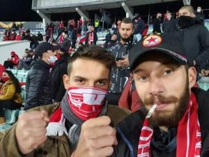 Скандалният кметски син Иван Белишки пак се прояви - похвали се, че е без маска на ЦСКА - Клуж