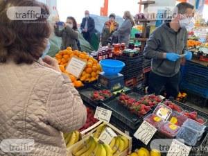 Масови проверки на пазара в Димитровград, от утре ще глобяват при липса на маски