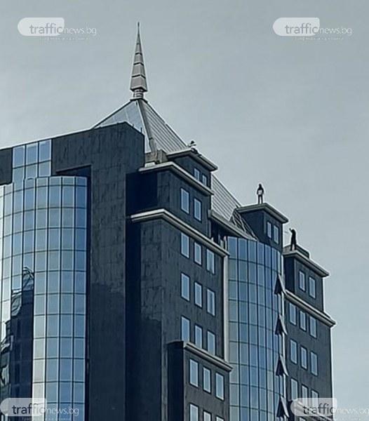 С риск за живота в търсене на адреналин: На ръба на покрив на хотел в Пловдив