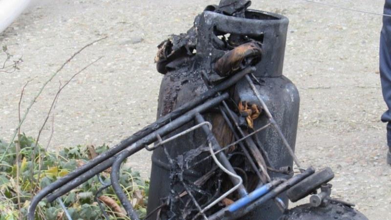 Взрив на газова бутилка в Пловдивско, вкара мъж в болница