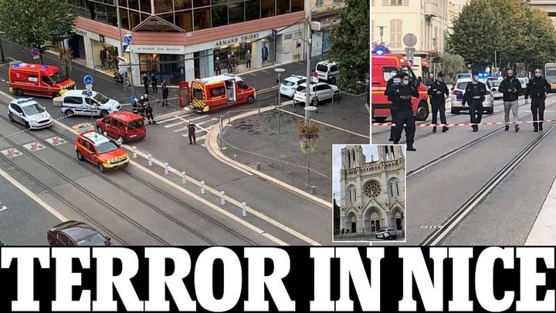 Атака с нож в Ница, има загинал и ранени