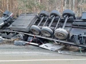 Шофьор на Тир загина при катастрофа между Габрово и Велико Търново