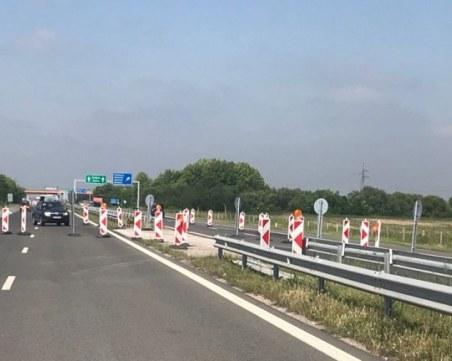 Първият етап от ремонта на магистралата край Първомай приключва до края на другата седмица