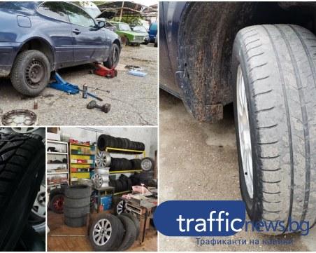 Опашки от чакащи за смяна на зимните гуми се извиха в Пловдив