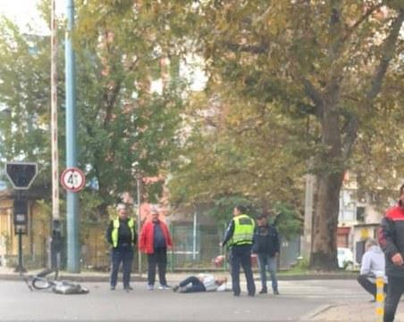 Инцидент на пловдивски прелез, колоездач е на пътното платно
